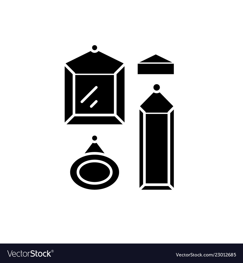 Picture gallery black icon sign on