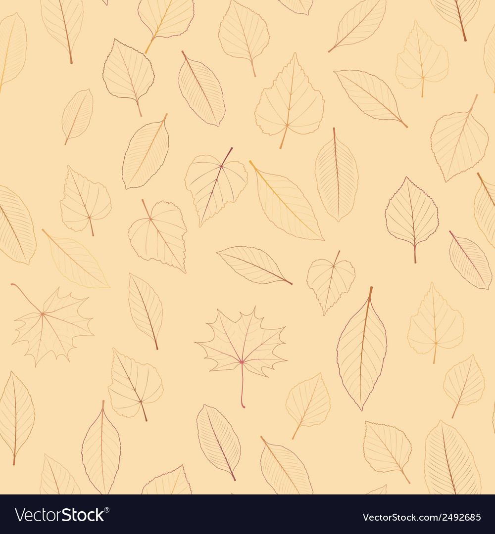 Seamless color leaves pattern plus EPS10