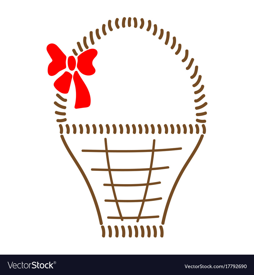 Basket with bow sign 709 vector image