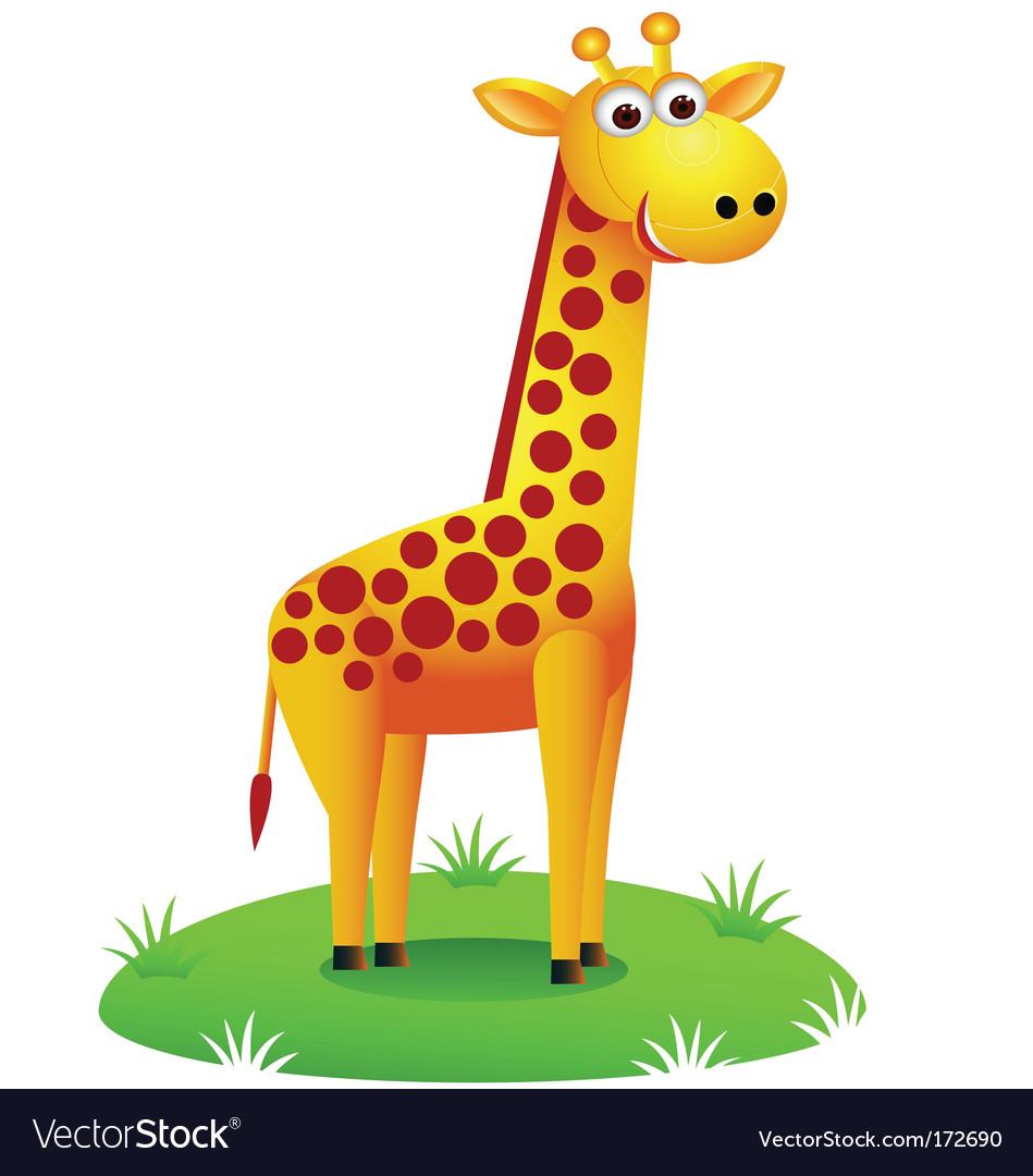 cute giraffe royalty free vector image vectorstock rh vectorstock com giraffe vector pattern girafe vectoriel gratuit