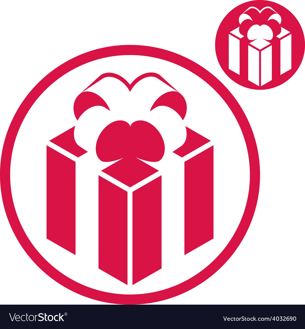 Gift box simple single color icon isolated on vector image negle Gallery