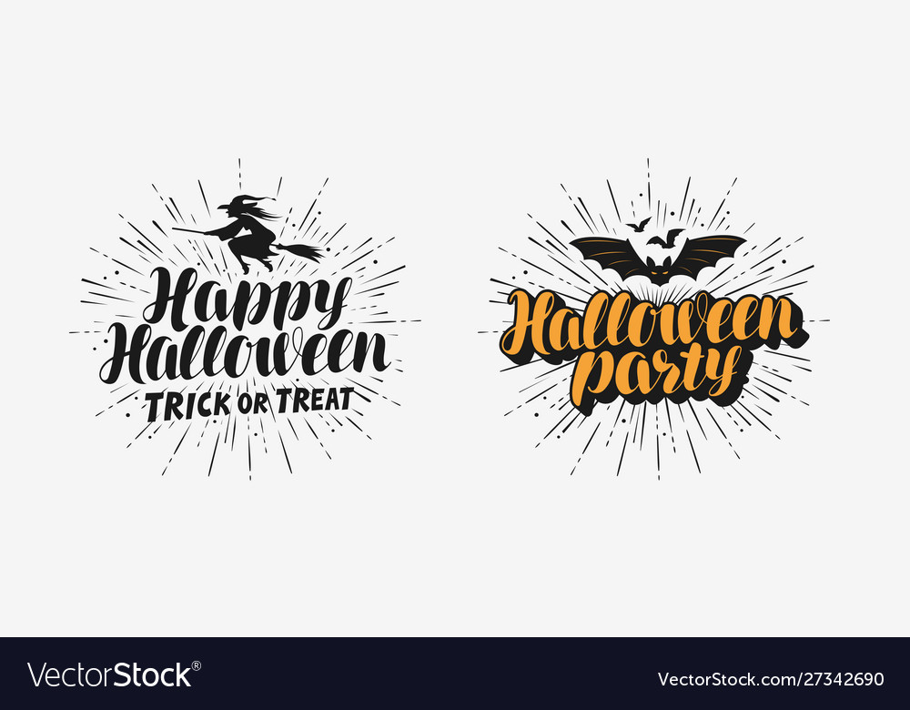 Hand drawn halloween lettering holiday