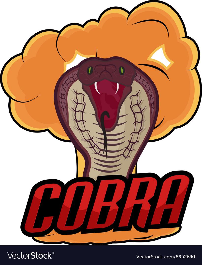 Professional logo cobra vector image