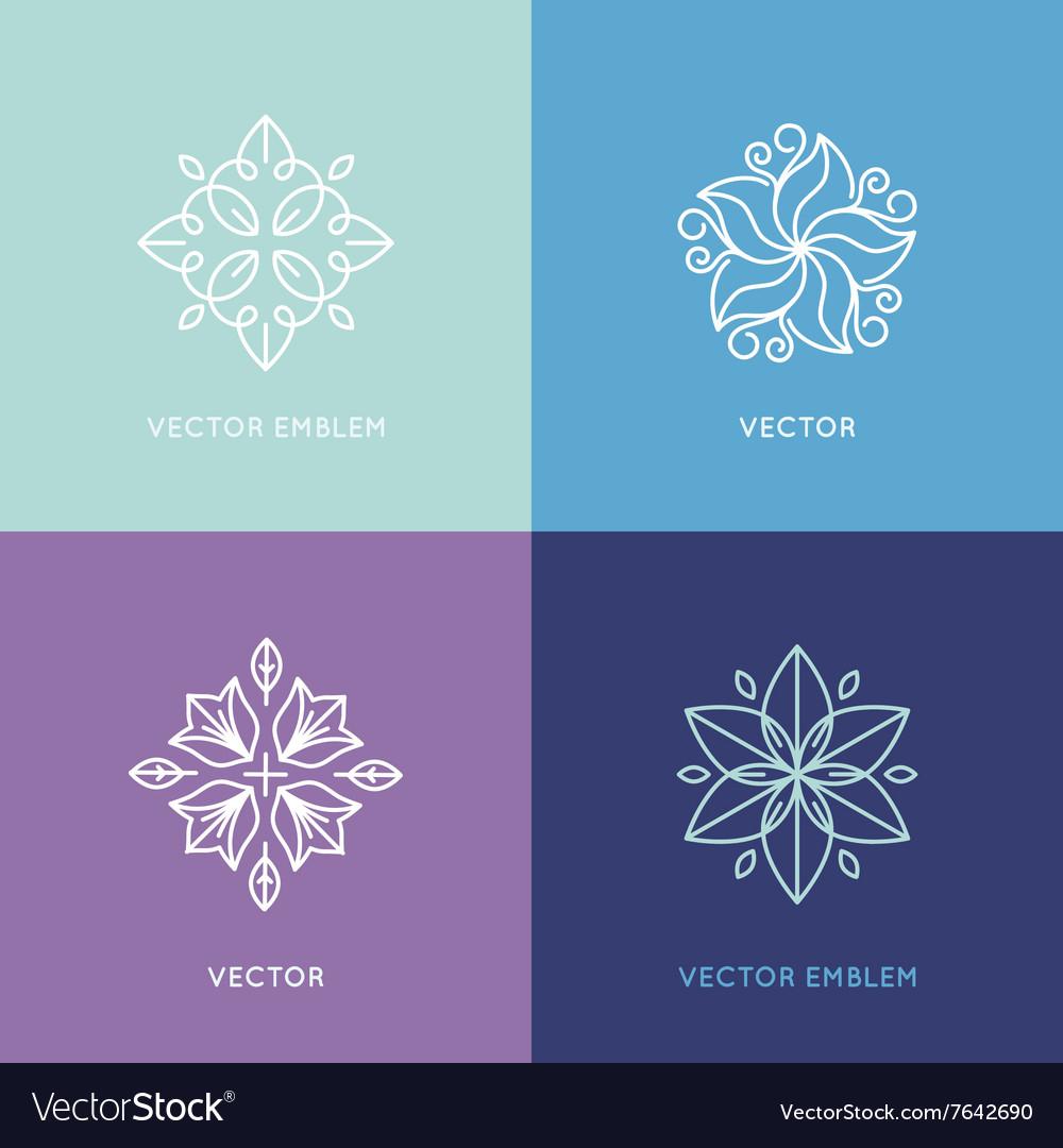 Set of logo design templates and symbols in trendy