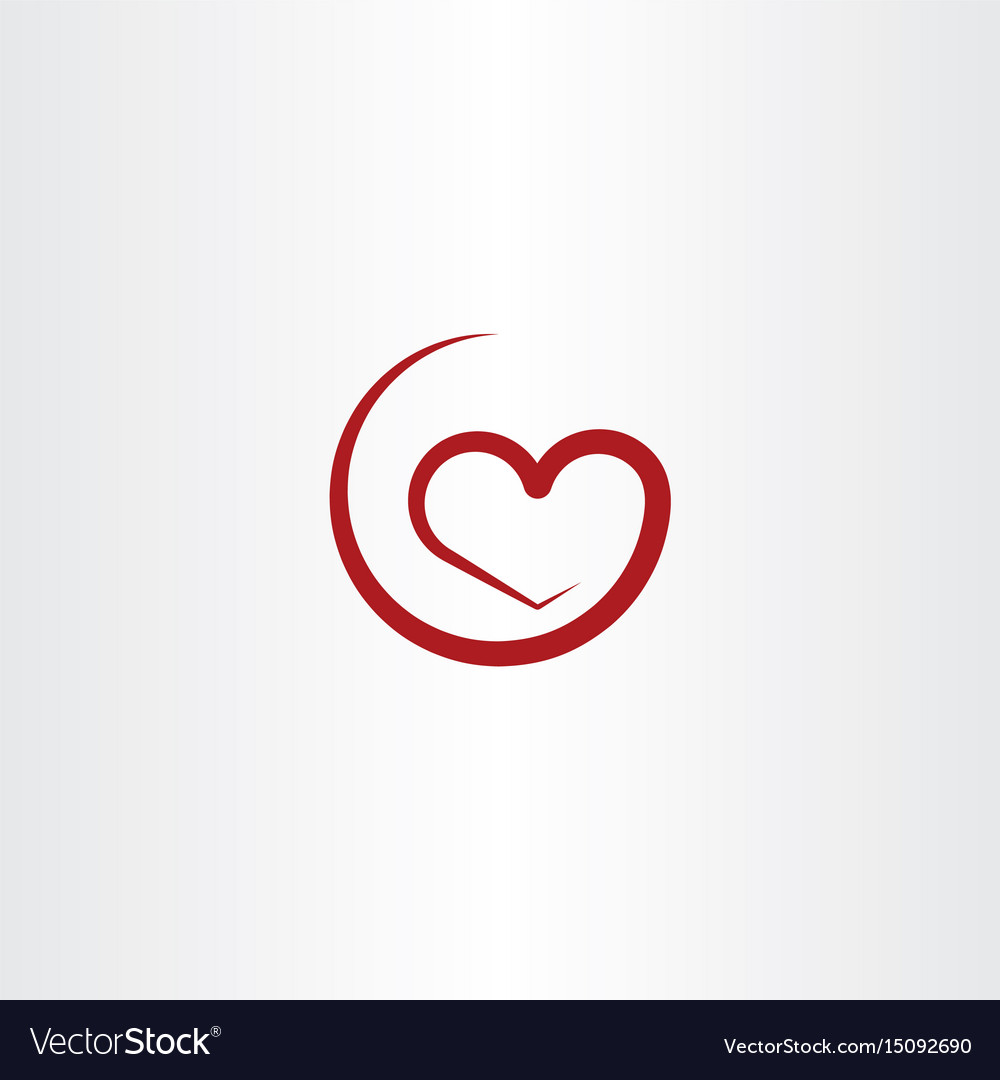 Simple red heart symbol