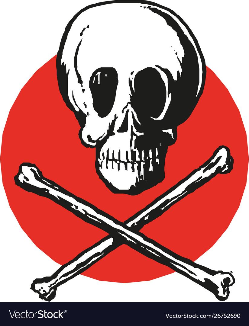 Skull and crossbones icon eps10