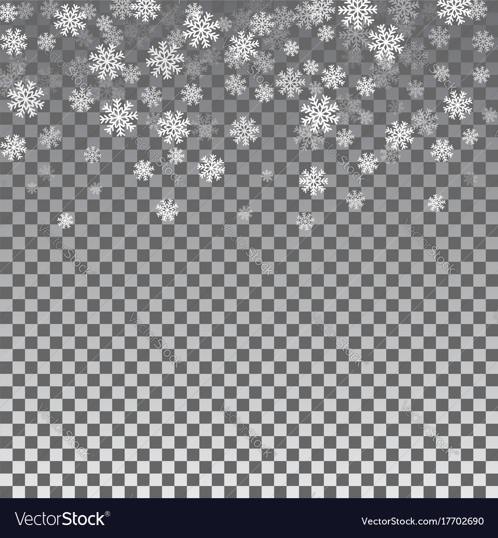 snowflake transparent background royalty free vector image