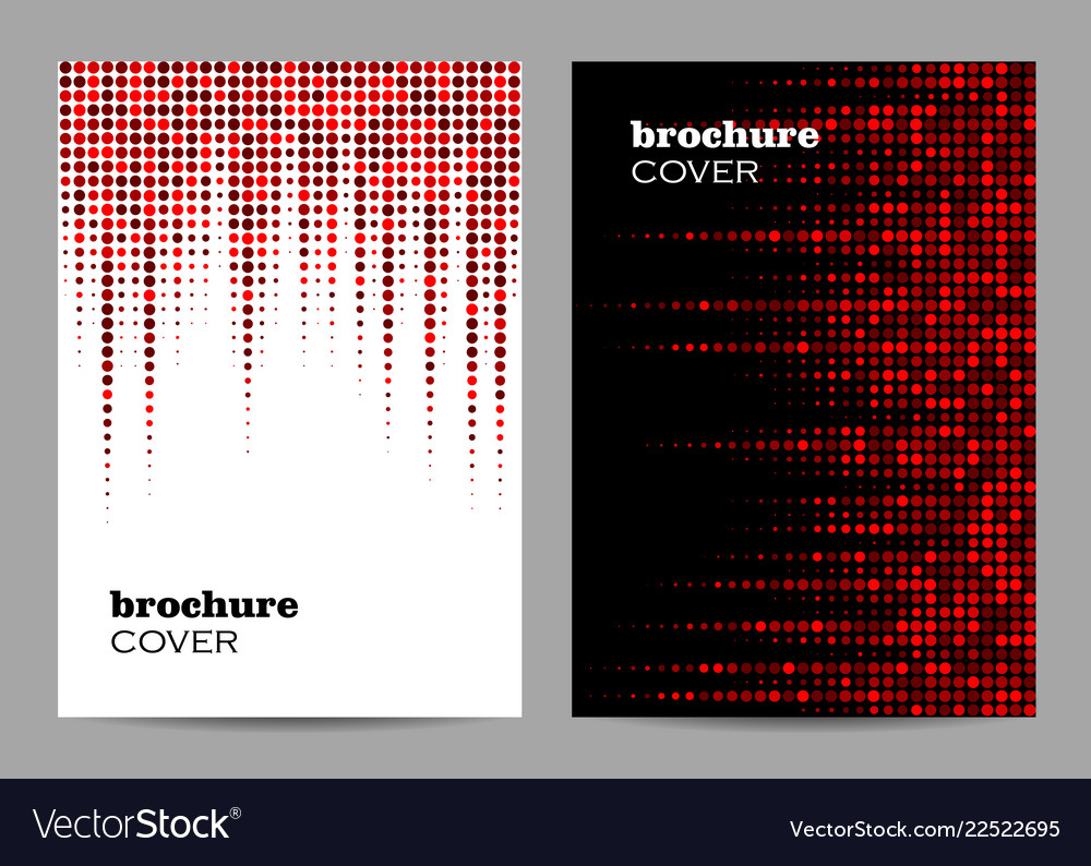 Brochure template layout design abstract red