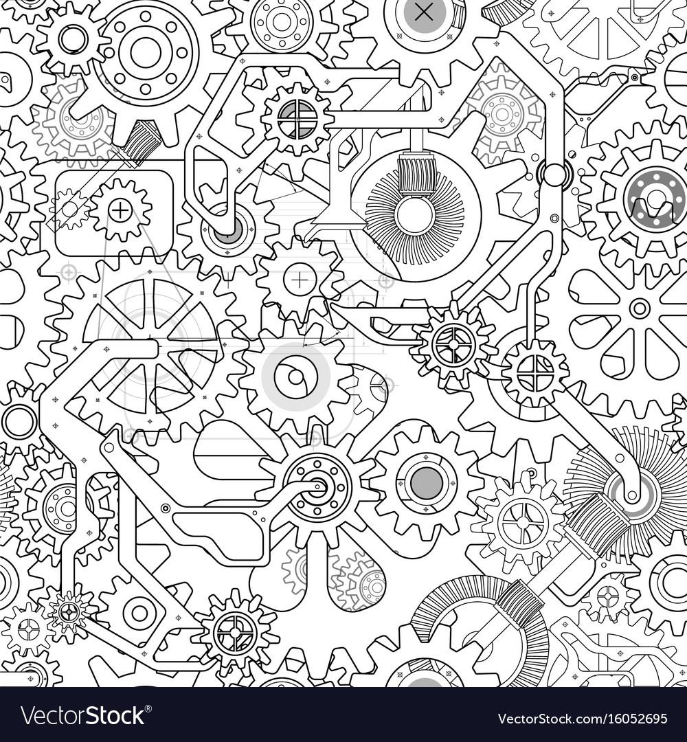 Clockworks gear background