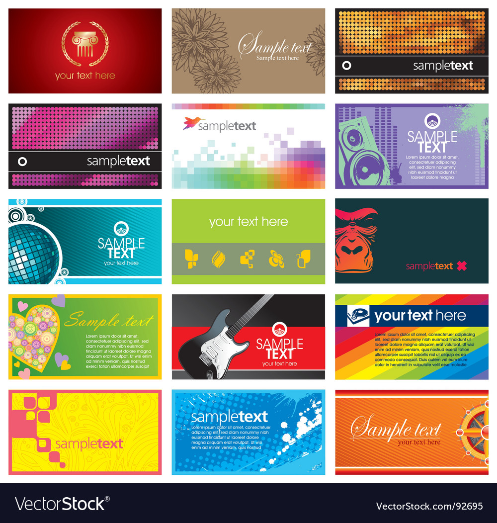 Collection of horizontal business card royalty free vector collection of horizontal business card vector image reheart Image collections