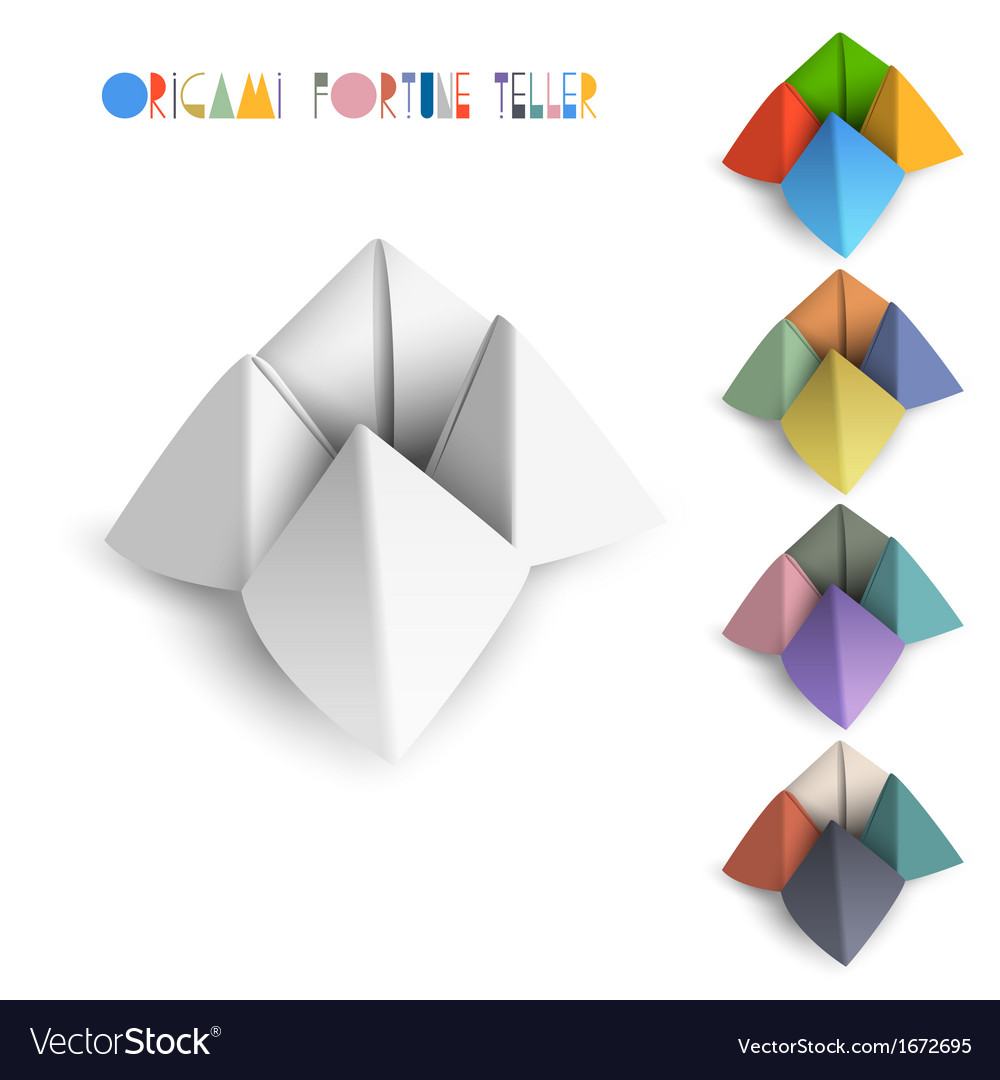 Colorful Origami Fortune Teller Royalty Free Vector Image