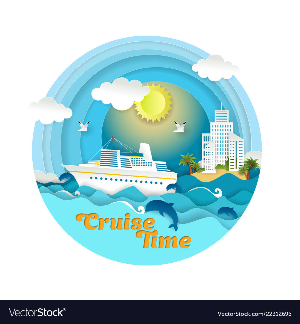 Cruise time paper art style