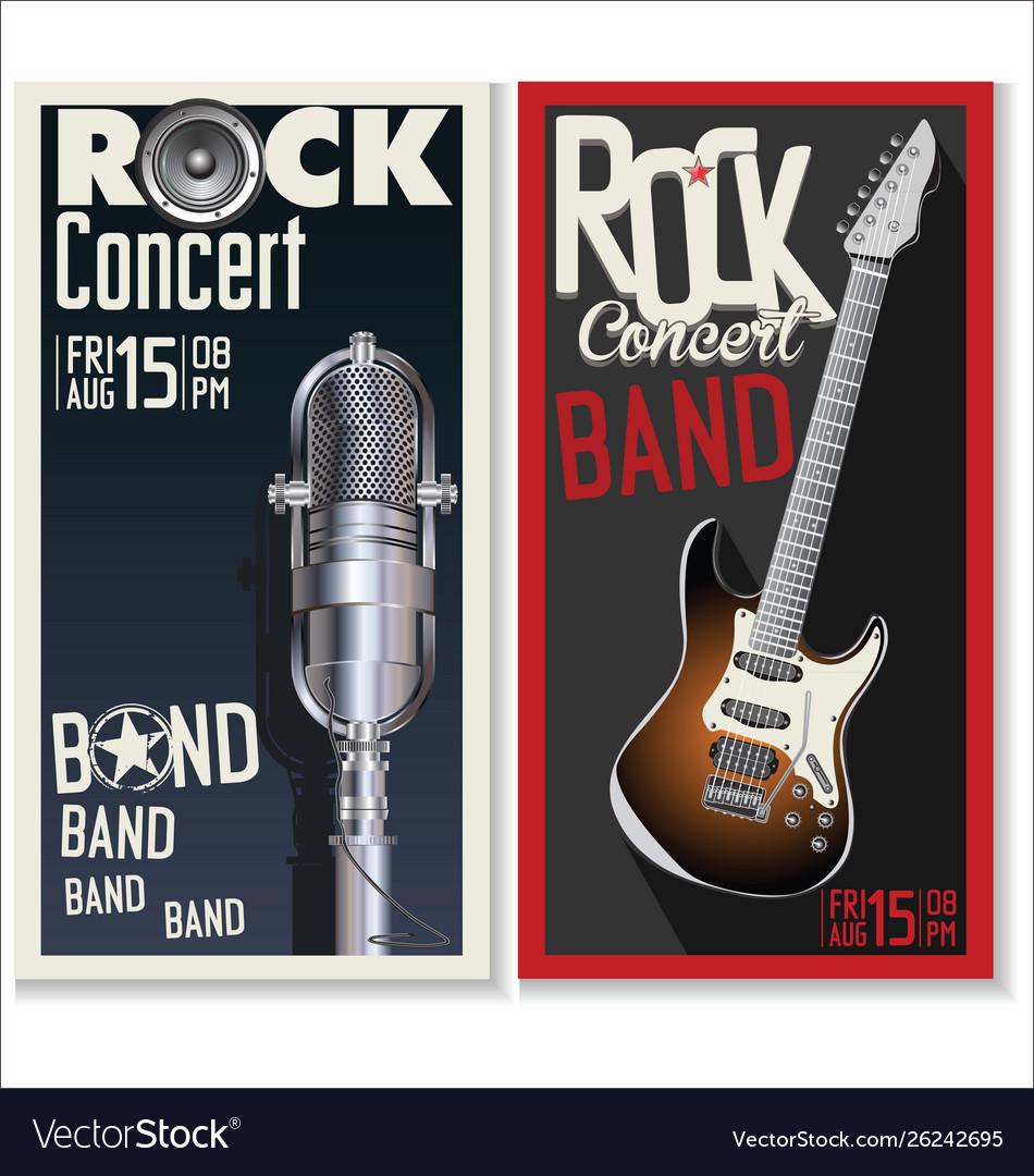 Rock concert banner