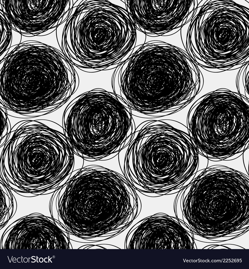 Seamless abstract scribble pattern