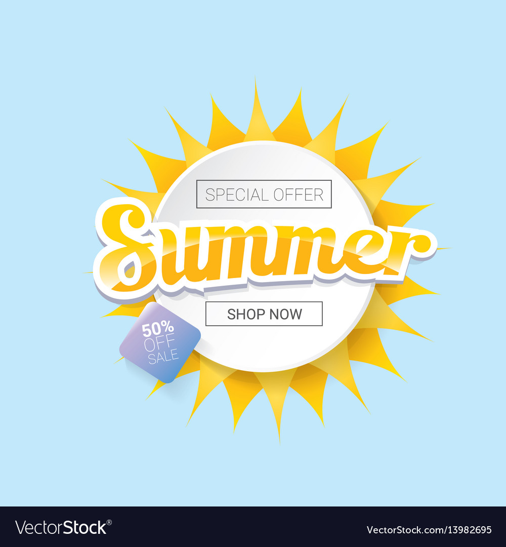 Summer sale template banner