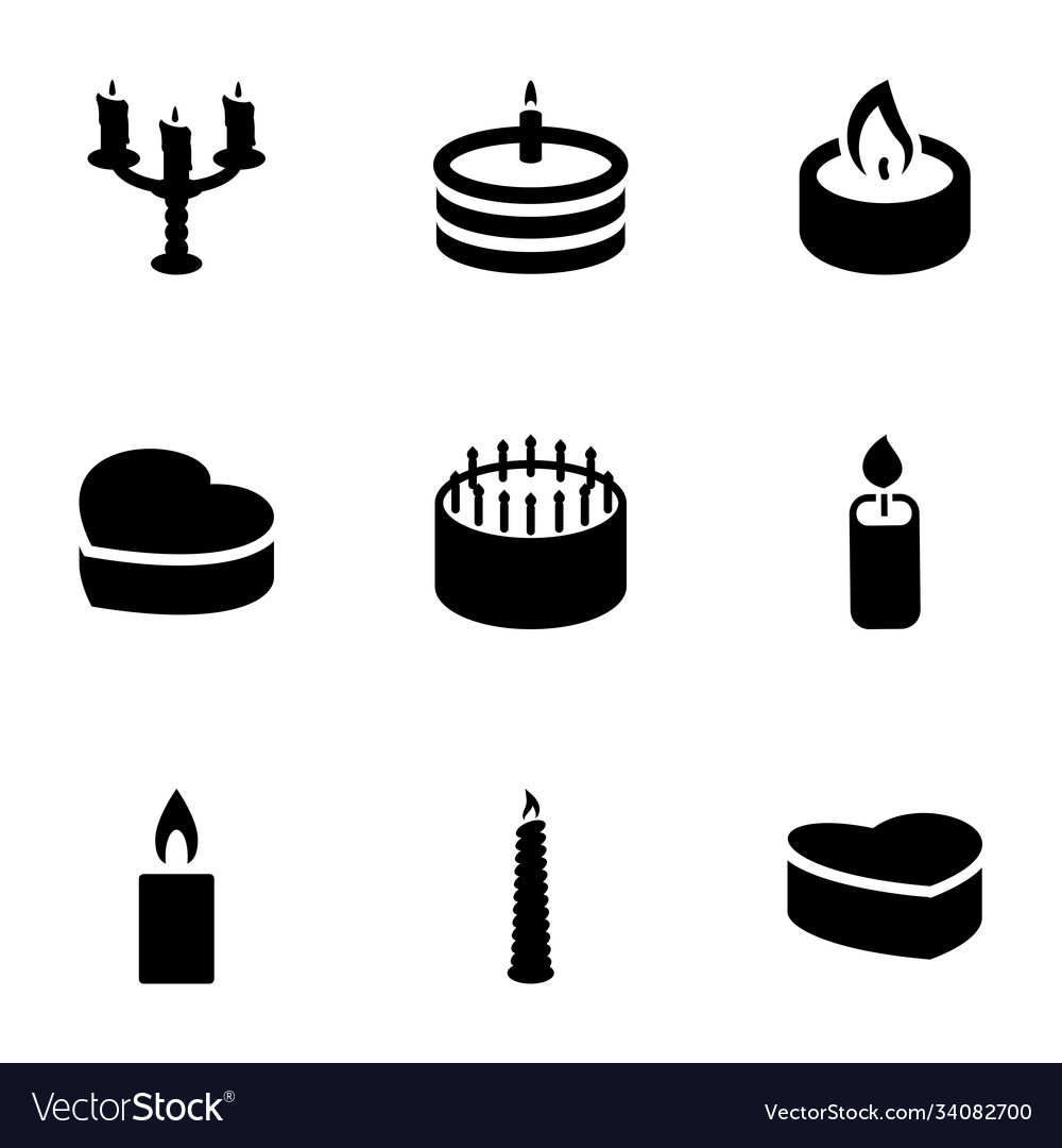 9 candle icons