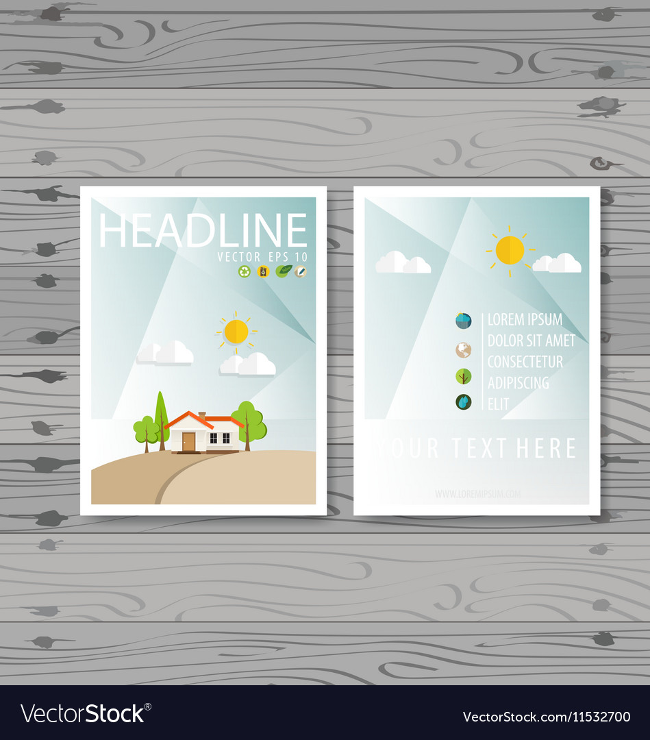 Brochure Flyer design Layout template Ecology