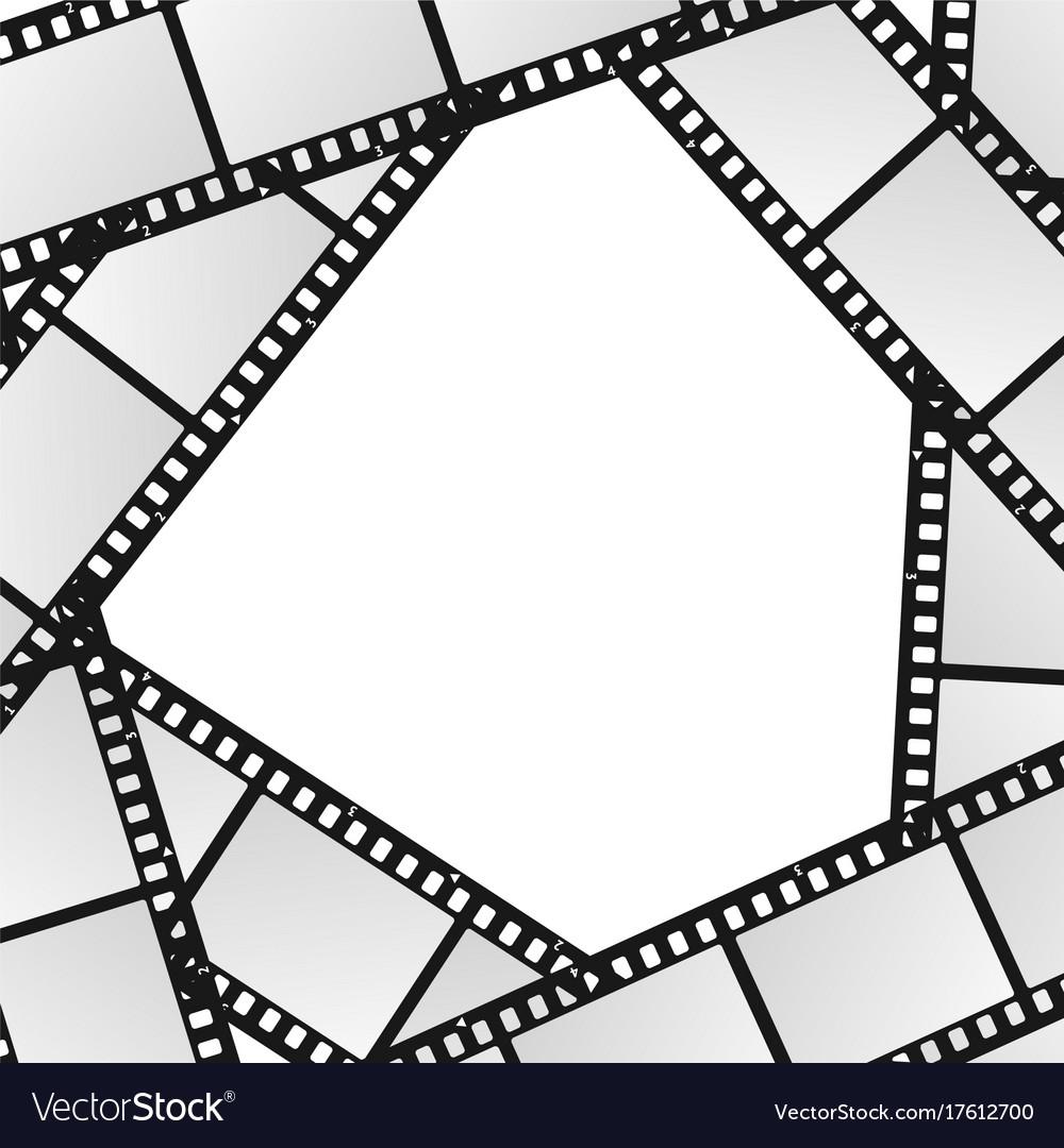 Cinema Movie Film Stripe Or Reel Background Vector Image