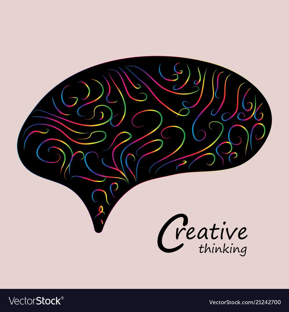 Colorful creative brainsmart brain logosign of