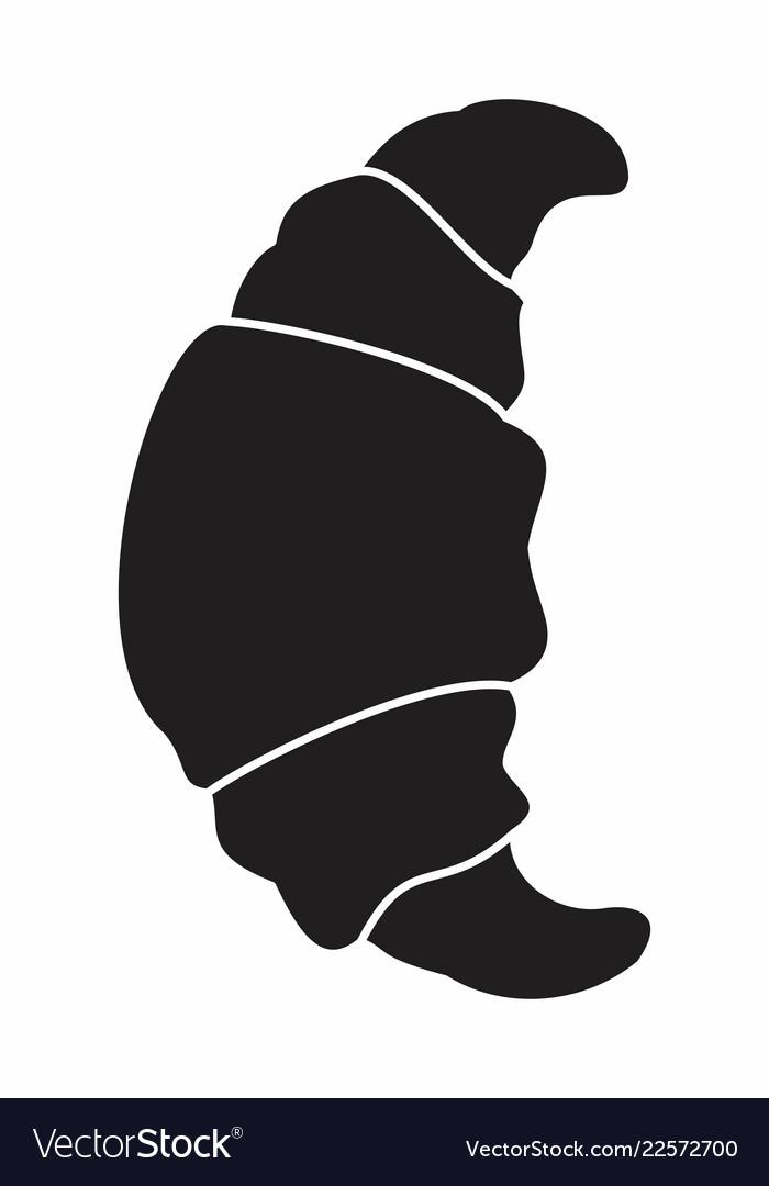 Croissant silhouette