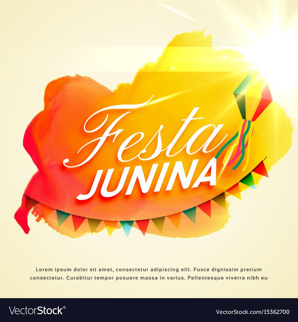 Festa junina celebration background for june