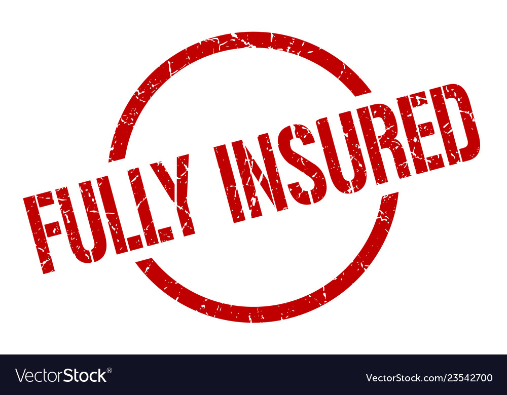 Fully insured stamp vector image on VectorStock