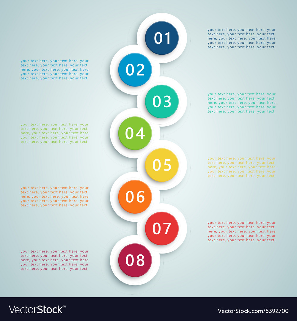 Number steps inforgraphic 7