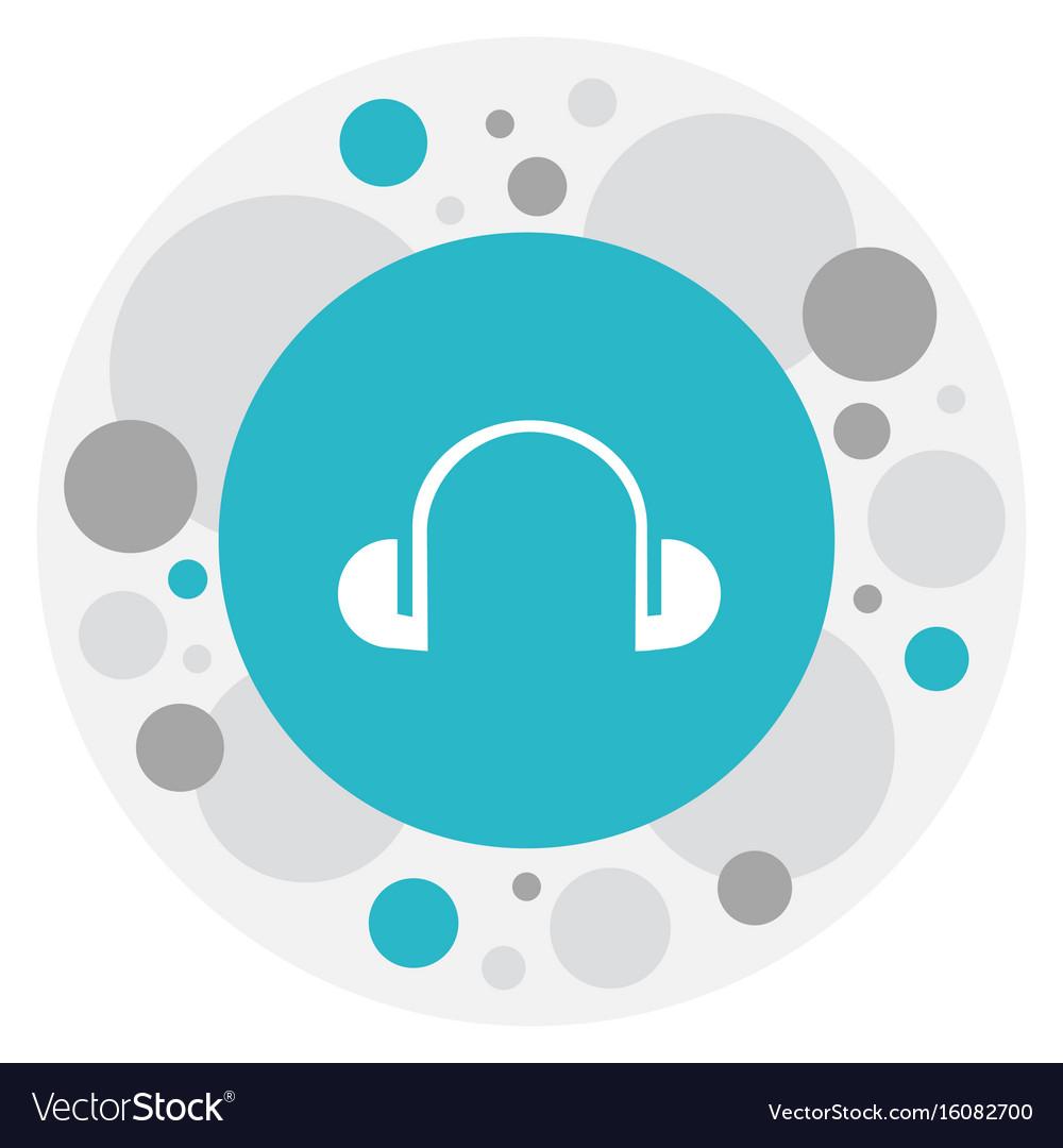Of mp3 symbol on headphones vector image