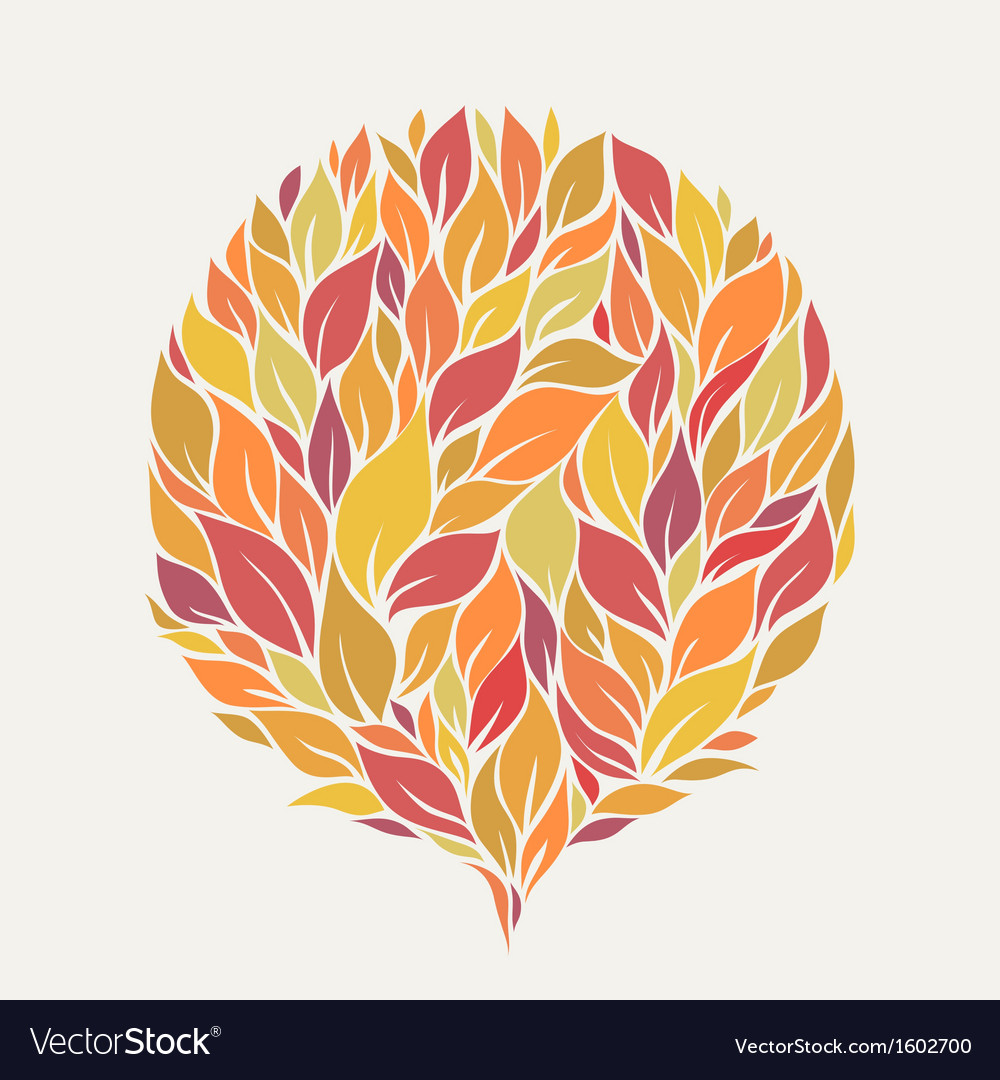 Stylized autumn leaves