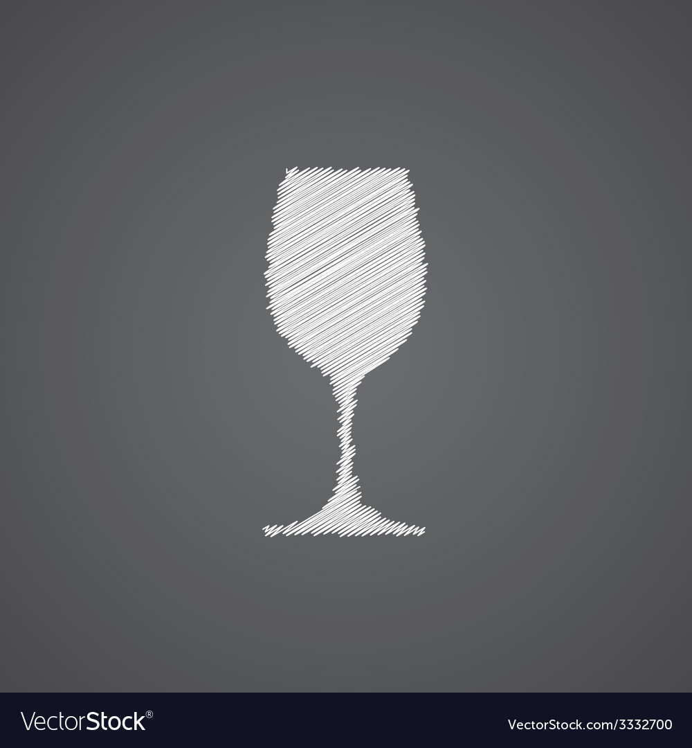 Wineglass sketch logo doodle icon