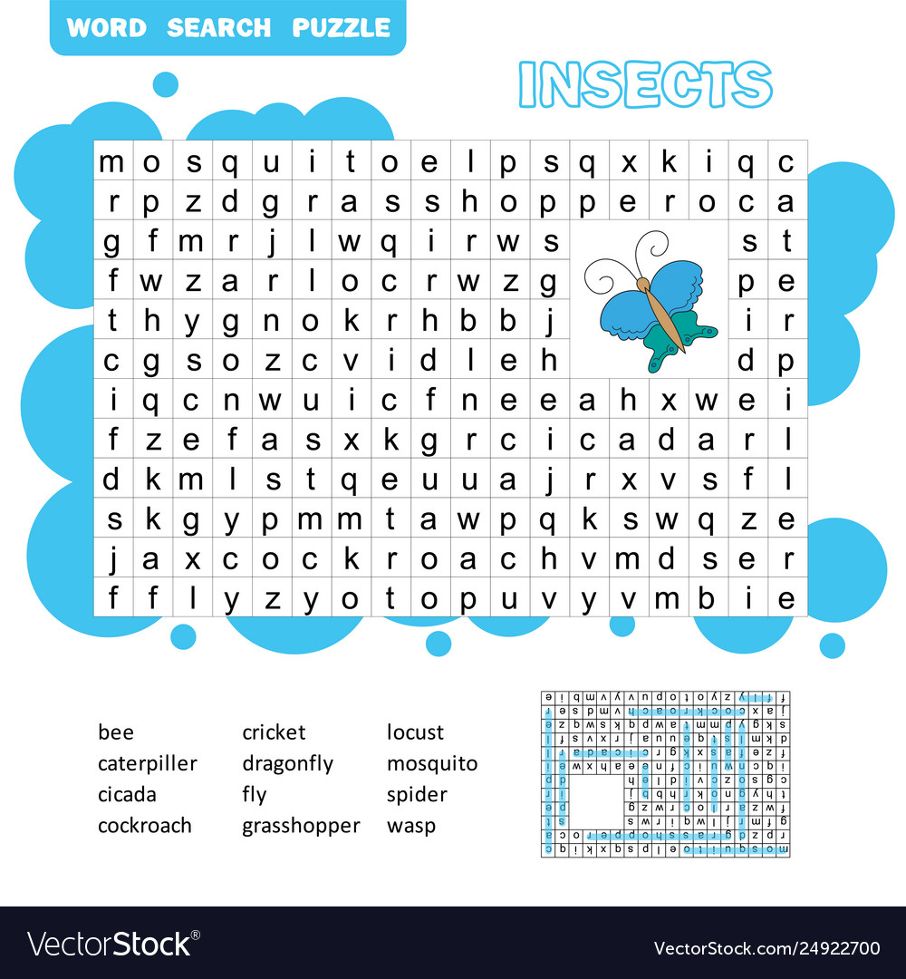 Words puzzle children educational game learning