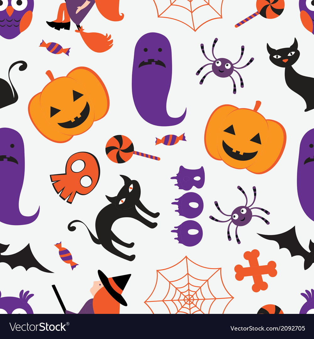 Colorful Halloween pattern