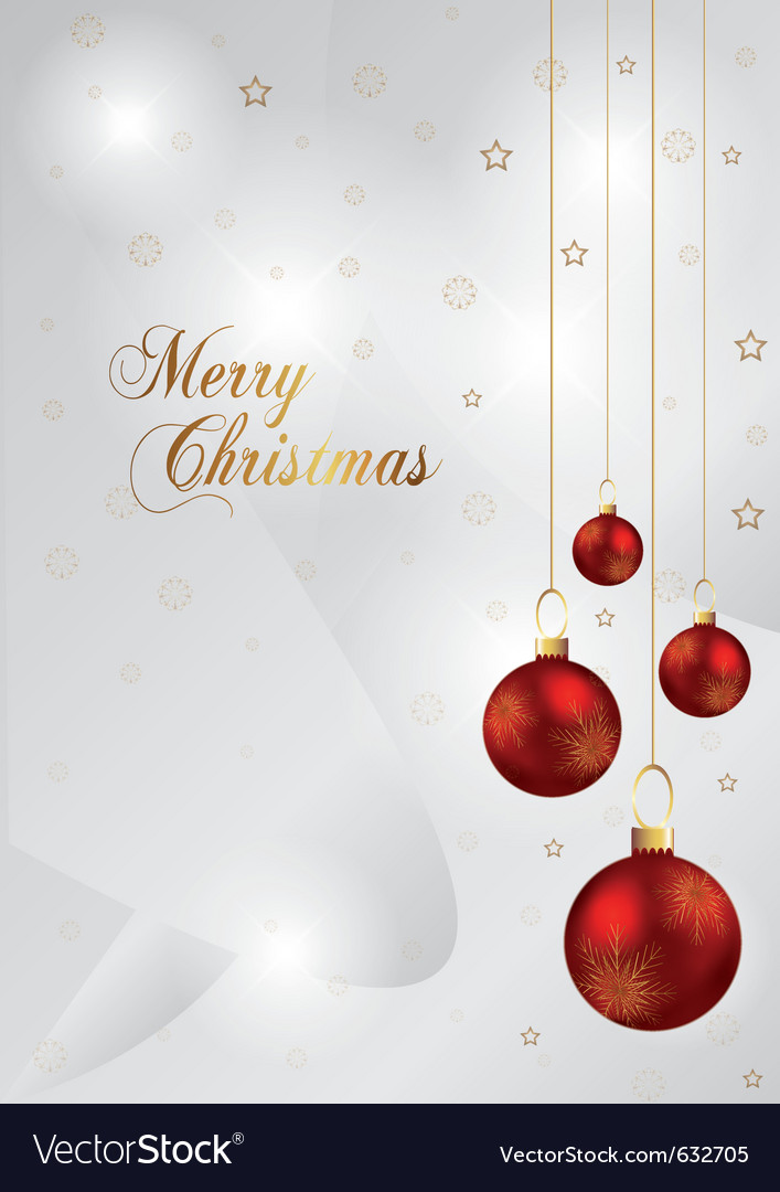 Elegant christmas background with red and gold chr vector image