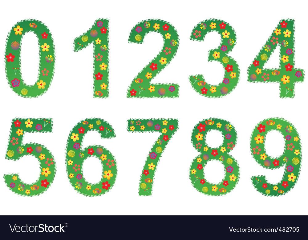 Floral number set