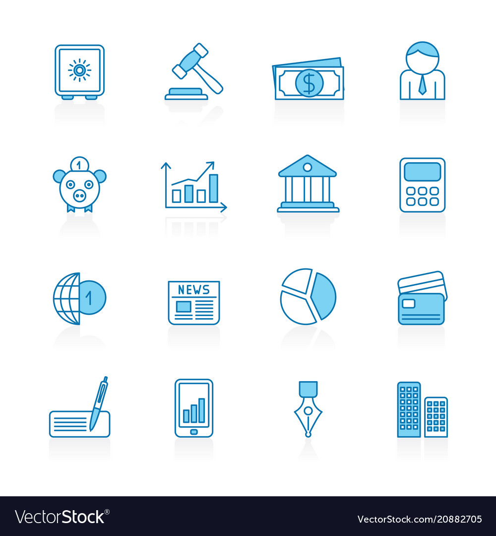 Line with blue background business and finance