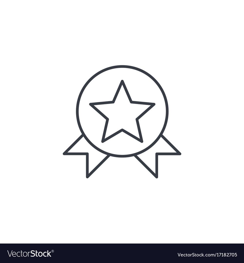 Medal award thin line icon linear symbol vector image