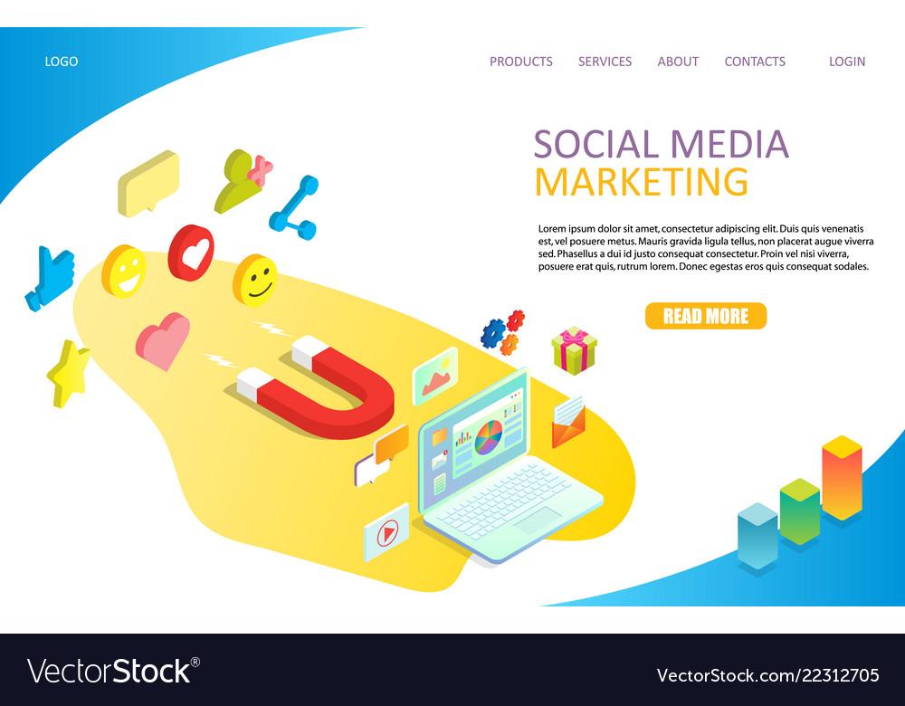 Social media marketing landing page website