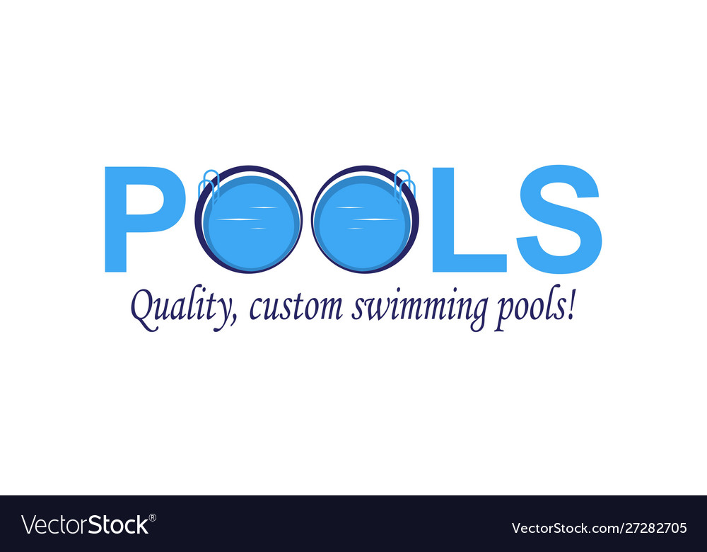 Swimming Pool Service Aqua Logo Design