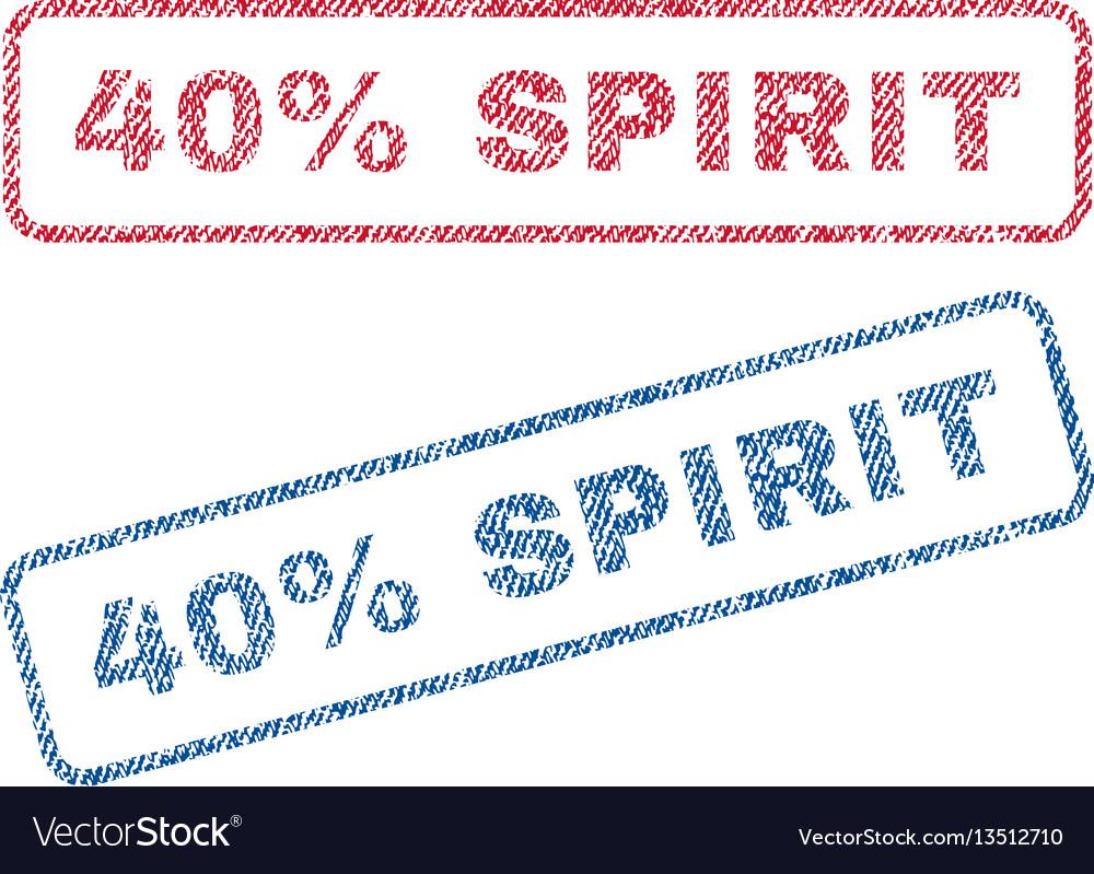 40 percent spirit textile stamps