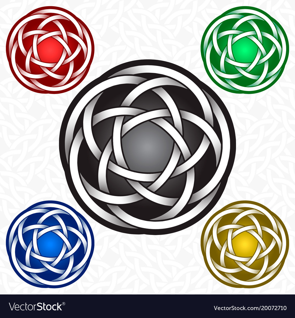 Circular Logo Template In Celtic Knots Style Vector Image