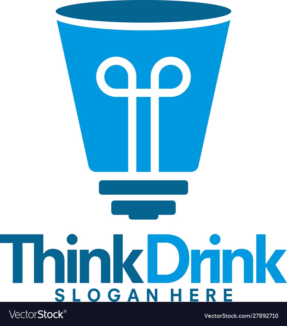 Drink thing logo template drink formula logo vector image