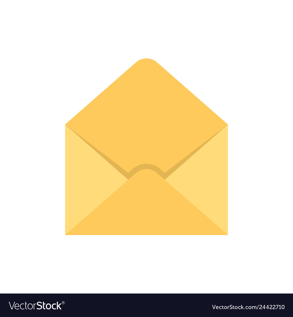 Empty envelope flat icon