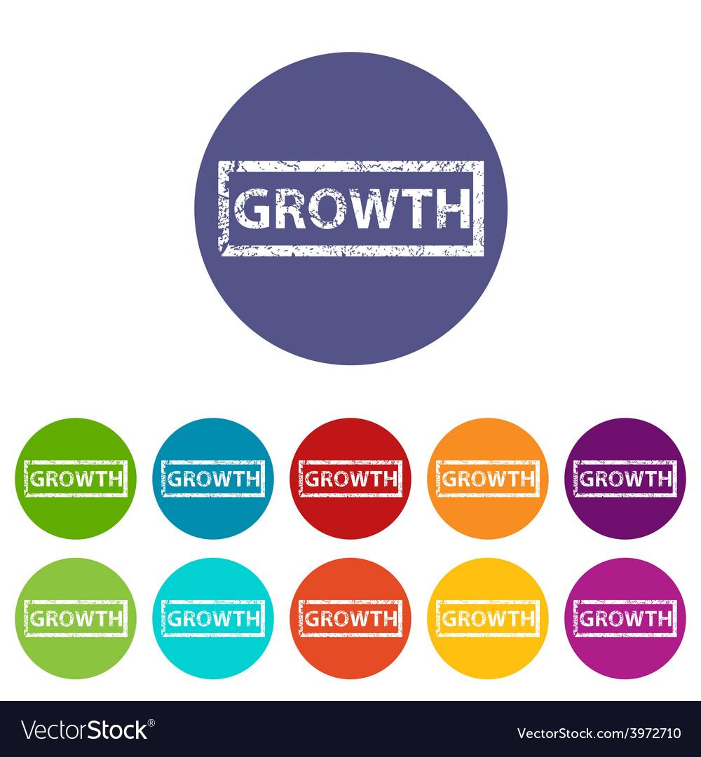 Growth flat icon