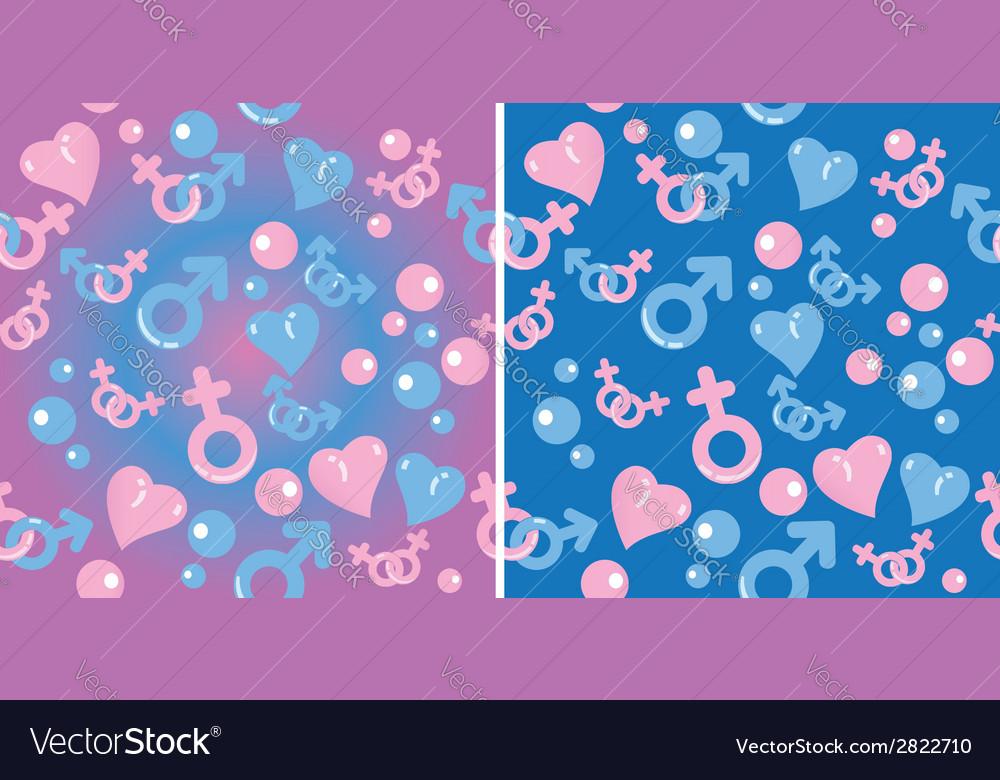 Love gradient pattern