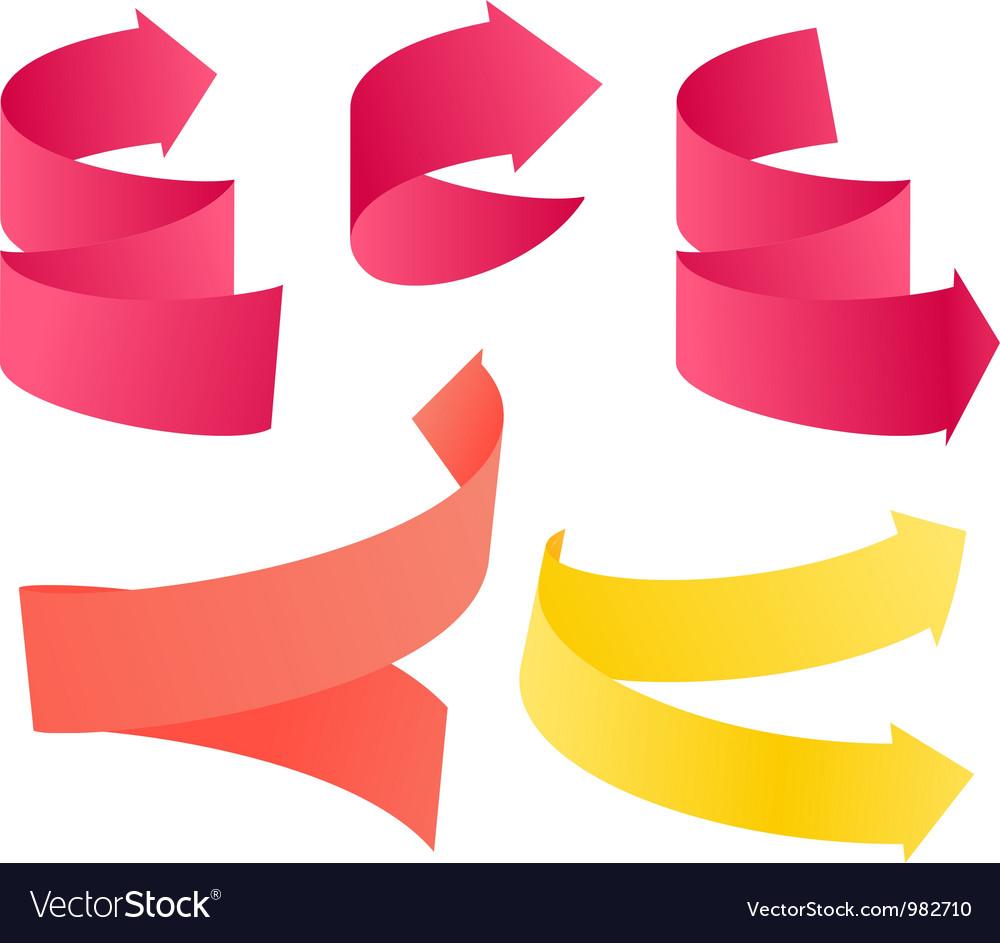 Paper style navigation arrows