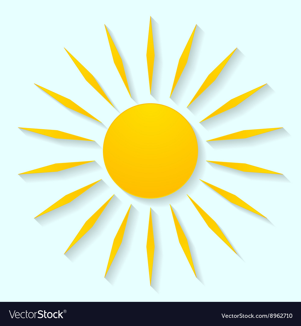 Sun icon graphic design vector image