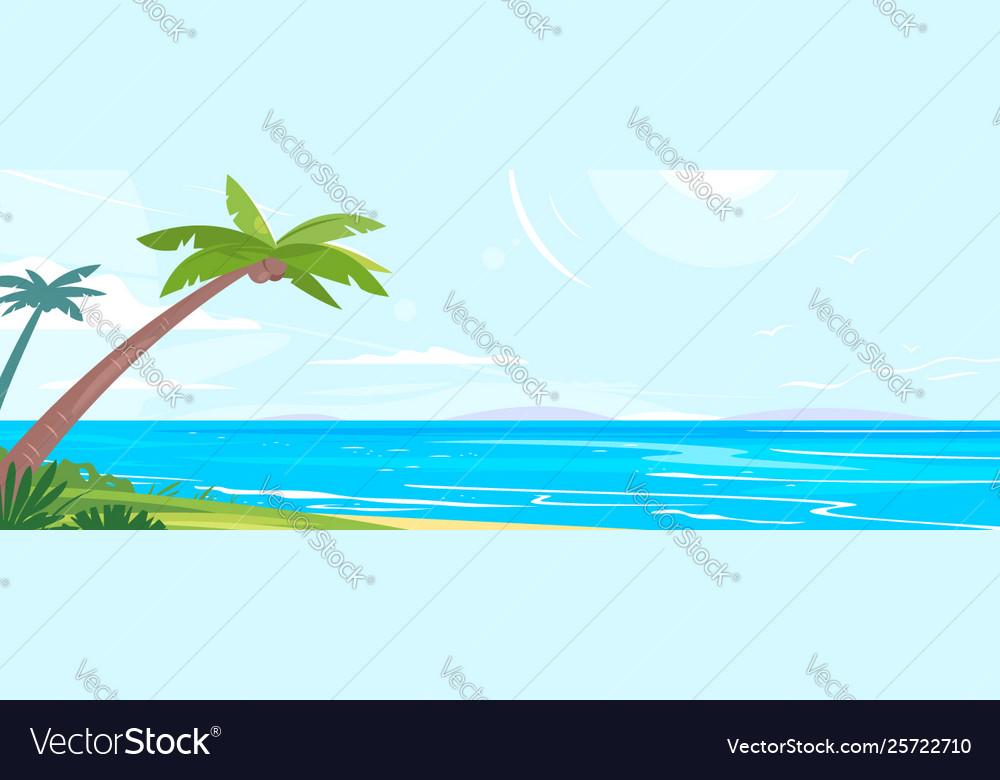 Tropical coast with palm trees