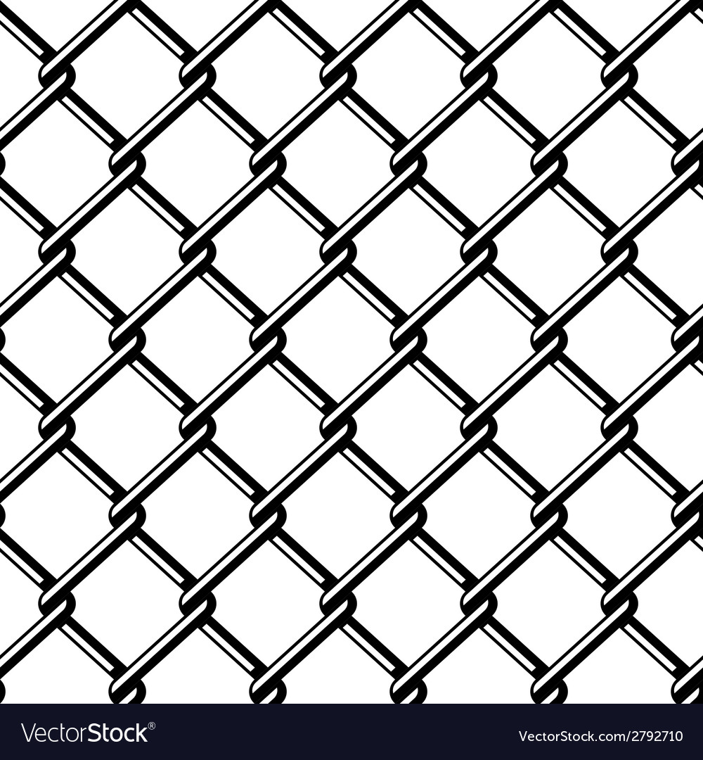 Wire fence seamless black silhouette Royalty Free Vector