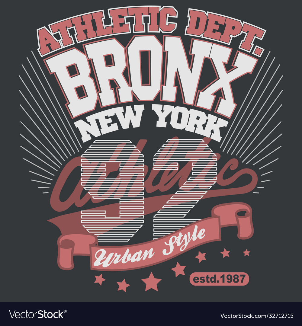 Bronx t-shirt graphics new york athletic apparel