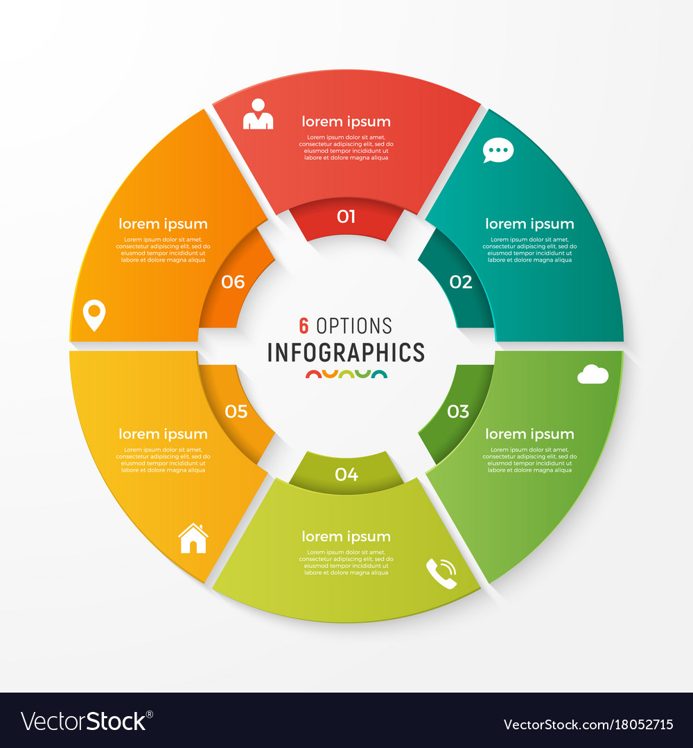 Circle chart infographic template for vector image